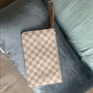 Louis Vuitton Neverfull clutch/ wristlet